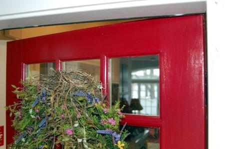 Front door birds nest